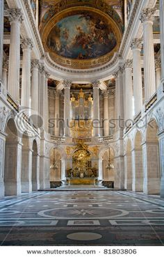 Great Hall Ballroom in Versailles Palace Paris France