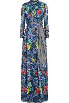 MATTHEW WILLIAMSON Jardin printed silk-chiffon gown. #matthewwilliamson #cloth #gown