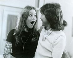 David Cassidy and Susan Dey-I'd love to know what David said to Susan to cause this reaction