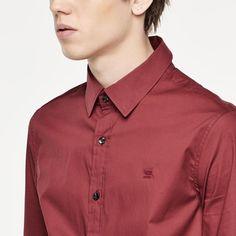 G-Star RAW | Men | Shirts | Valdo Core Shirt , Dark Cherry