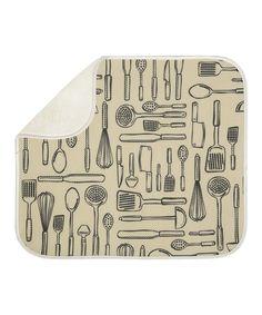 Utensils iDry Large Kitchen Mat by InterDesign #zulily #zulilyfinds