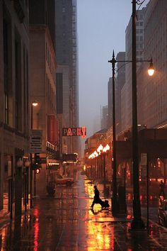 """""""From the series 'In the Mood for Rain' Chicago, 2010 Christophe Jacrot"""" Urban Photography, Night Photography, Photography Aesthetic, City Lights Photography, Rainbow Photography, Color Photography, Landscape Photography, Portrait Photography, Travel Photography"""