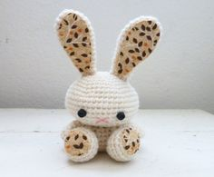 Amigurumi bunny crochet bunny cream bunny bunny tail rabbit doll amigurumi animal crochet amigurumi ready to ship handmade kawaii by SixthandDurian