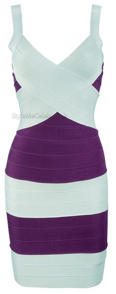 'Victoria' cross over bandage dress