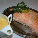 Stuffed Salmon Roast - recipe Roti de saumon farci aux noix de st Jacques