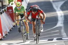 Greg Van Avermaet beats Peter Sagan in the battle of the second placed riders on stage 13