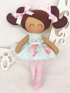 Soft baby doll Handmade Dolls Fabric Dolls by SewManyPretties