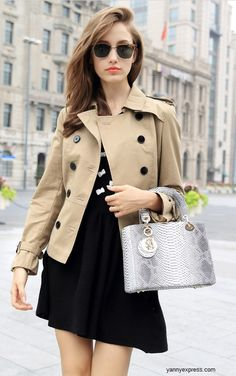 Convertible Cape Trench Jacket