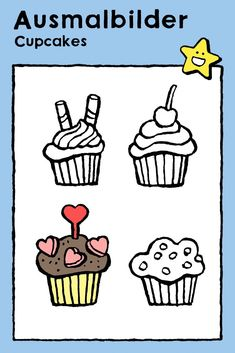 Cupcakes, Ausmalbilder, Malvorlagen, Kinder, Party, Geburtstag, Essen, Torten und Eis • cupcakes, coloring pages, colouring picture - kids, birthday, parties, food, cake and ice-cream • cupcakes, kleurplaat, kleurprent, kinderen, feesten, verjaardag, eten, taart en ijsjes • cupcakes, coloriage, image à colorier, enfants, fêtes, anniversaire, manger, gâteaux et glaces #freebie #ColoringPages #kleurplaat #Ausmalbilder #coloriage #kids #kinderen #Kinder #enfants #birthday #Geburtstag… Birthday Coloring Pages, Ice Cream Cupcakes, Nouvel An, Educational Games, Colorful Pictures, Food And Drink, Apps, Cook, Food And Drinks