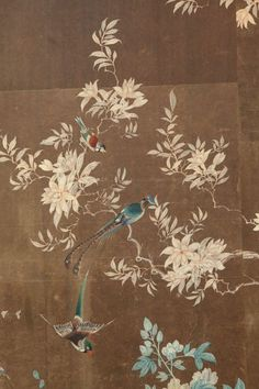 Early 19th Century Chinese Hand-Painted Wallpaper Panels image 3