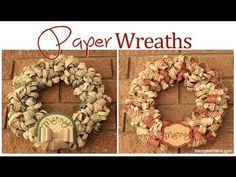 Making Paper Wreaths - Home Decor WOW!