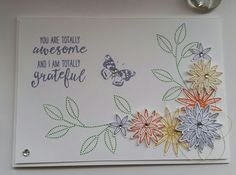 Stampin' Up! Demonstrator stampwithpeg – Thank you card using Grateful Bunch Bundle. I love this bundle, I only got it a few weeks ago and haven't had chance to use it till now. My verd…