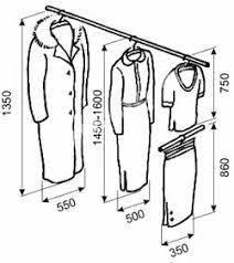 Výsledok vyhľadávania obrázkov pre dopyt какой должна быть глубина шкафа для плечиков