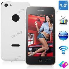 "5C 4"" Resistive Touch SP6531 2G Phone + WiFi + 1.2MP CAM  http://www.cigabuy.com/ru/5c-4-resistive-touch-sp6531-2g-phone-wifi-12mp-cam-p-2796.html?dp=T0104  TV 5C: Spreadtrum SP6531 CPU + 349KB RAM 4"" capacitive multi-touch screen + 480 x 320 pixels screen resolution WiFi + FM + Bluetooth + Messaging + Wallpapers + Calendar + Calculator + Clock + Alarm + Stop Watch + Camera"