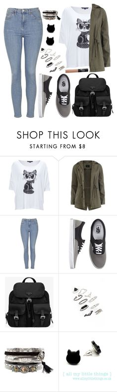 """""""Untitled #3750"""" by natalyasidunova ❤ liked on Polyvore featuring French Connection, Dorothy Perkins, Topshop, Vans, Prada and NARS Cosmetics"""