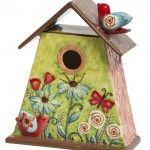 Naive Art Colorful Birdhouse