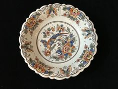 ROYAL GOEDEWAAGEN DELFTS  HAND PAINTED POLYCHROME FRUIT BOWL # 2398/24 signed