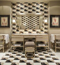 Academy collection at the Salone Internazionale del Bagno booth, designed by Massimiliano Raggi.