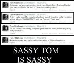 When he responded to his critics. | Community Post: 18 Times Tom Hiddleston Was Utterly Perfect