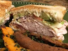 Quick sandwich to make! Uses deli sliced turkey and pre-cooked bacon, so it's ready in no time. The avocado gives it a nice creaminess. Avocado Sandwich Recipes, Bacon Avocado, Quick Sandwich, Bacon Turkey Bravo, Smoked Gouda Cheese, Gourmet Sandwiches, Sandwich Ingredients, Sliced Turkey, Sliced Tomato