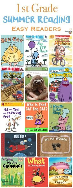 free printable! Summer reading list for 1st grade -- easy readers plus easy chapter books!!