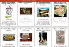 Hundreds of inspirational reduce, reuse, & recycle ideas for the kitchen.