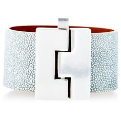 leighelena wide bracelet with silver glasp.