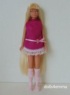 Vintage SL Skipper Doll Clothes handmade retro DRESS & BOOTS Fashion NO DOLL d4e