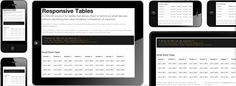 The importance of incorporating data tables to present a vast amount of data in one visually readable table and how it can be accommodated in a responsive website. Web Design Tools, Tool Design, Word Table, Web Development Tools, Responsive Web Design, Small Words, Screen Size, Foundation, Tables