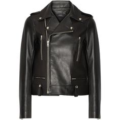 Joseph Ryder leather biker jacket (£1,110) ❤ liked on Polyvore featuring outerwear, jackets, black, motorcycle jacket, joseph jacket, leather motorcycle jacket, snap jacket and real leather jackets