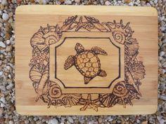 sea turtle and shells