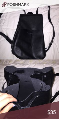 black Zara book bag Only worn once. Great condition! Feel free to submit an offer! Zara Bags Backpacks