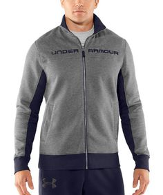 Take a look at this True Gray Heather Charged Cotton® Storm Quilted Jacket by Under Armour® on #zulily today!