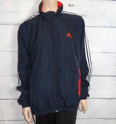 e6c104edede Vintage navy blue Adidas track jacket Size US-L  fashion  clothing  shoes