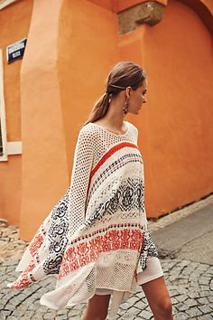 Risen sun sweater dress - anthropologie beach style бохо, осенняя одежда e Mode Chic, Bohemian Mode, Mode Style, Hippie Boho, Style Me, Look Fashion, Autumn Fashion, Dress Fashion, Xl Fashion