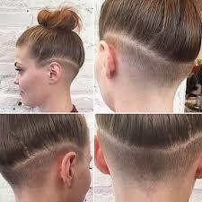Resultado de imagen de nape undercut hairstyle women with medium short hair