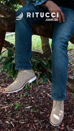 b763e364f8 As Chukka Boots masculinas mais descoladas estão na Ritucci. Conheça nossa  linha 100% couro