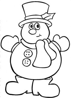 snowman coloring pages - Google Search