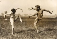 Gerhard Riebicke. 'Couple Performing German Dance' ca. 1930