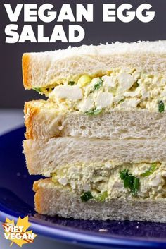 This vegan egg salad, in my opinion, has the exact odd, creamy chunkiness and savoury flavour that egg salad needs to have. Perfect for smushing between the softest, whitest bread for that ultimate nostalgia factor. Vegan Lunches, Vegan Foods, Vegan Dishes, Tofu Recipes, Whole Food Recipes, Cooking Recipes, Healthy Recipes, Healthy Food, Egg Salad Sandwiches