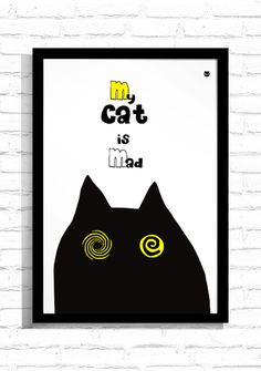 "Grafika ""Mad Cat""/ Graphic ""Mad Cat"""