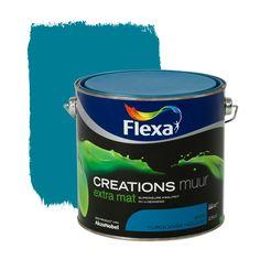 Flexa Creations muurverf turquoise holiday extra mat 2,5 liter