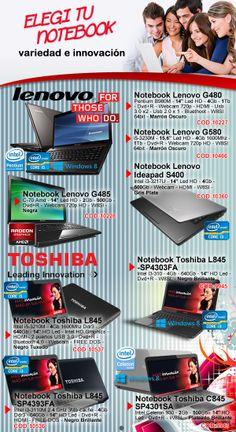Tenemos tu próxima notebook #Lenovo o #Toshiba Entrá a @GV Informatica: www.gvinformatica.com.ar