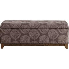 The Wood Apron Storage Bedroom Bench adds a modern touch to any room with it's upholstered medallion pattern. Hinged lid construction and straight legs in a light driftwood finish add premium touches to this traditional design. Buy Wood, Wood Storage, Storage Compartments, Baby Crafts, Bedroom Storage, Joss And Main, Storage Solutions, Walmart Shopping, Bench