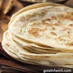 Tortillas mexicanas. Receta de masa para wraps