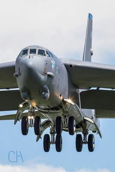 B-52 on final