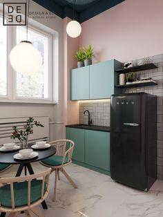 "DE&DE/Beauty salon ""Tricky mechanics"" on Behance in 2020 Kitchen Interior, Kitchen Design Small, Interior, Home N Decor, Kitchen Decor, Home Remodeling, Home Decor, House Interior, Home Kitchens"