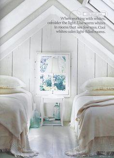 All white guest attic