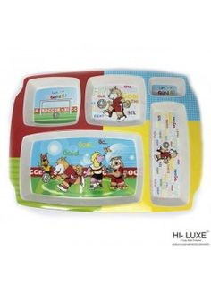 Buy Hi Luxe Rectangular Partition Kids 1Pc, Plate-102121 online at happyroar.com