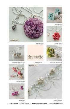 gioielli di fimo creati da Karen Pasieka - polymer clay jewels created by Karen Pasieka